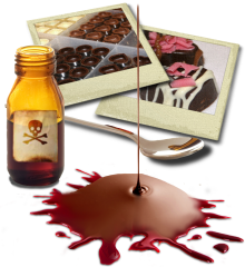 Chocolate, poison and blood; the ultimate murder mystery party ingredients