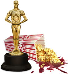 Oscar and bloody popcorn
