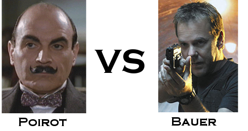 Hercule Poirot vs Jack Bauer in the TV Detective World Series